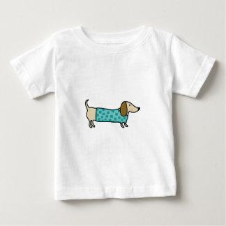 Cute dachshund in mint blue baby T-Shirt