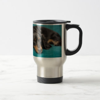 Cute Dachshund Laying Down Travel Mug