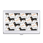 Cute Dachshund or Doxie Pattern Business Card Holder