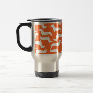 Cute Dachshund Pattern Perfect Gift for Doxie Love Stainless Steel Travel Mug