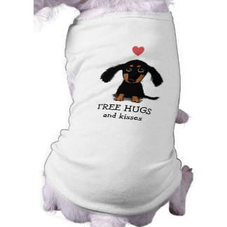 Cute Dachshund Puppy with Heart and Text Shirt
