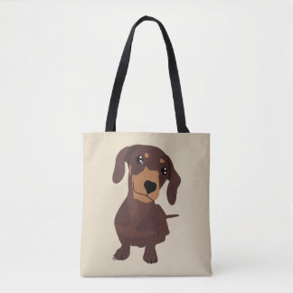 Cute dachshund sausage dog totes bag