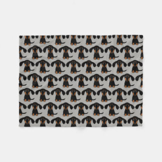 Cute Dachshunds Pattern Fleece Blanket