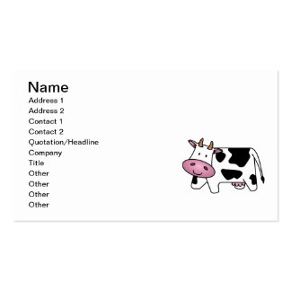 Cute Dairy Cow Pack Of Standard Business Cards