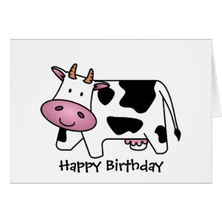Cute Dairy Cow Card