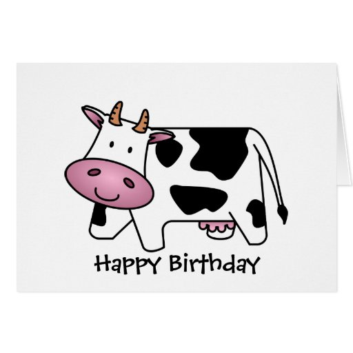 Cute Dairy Cow Cards