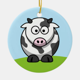 Cute Dairy Cow Ornament