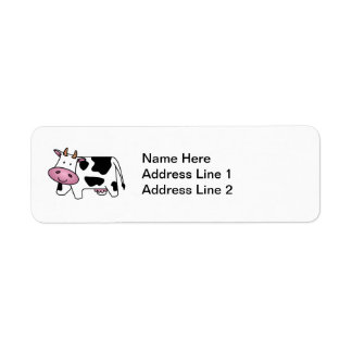 Cute Dairy Cow Return Address Label