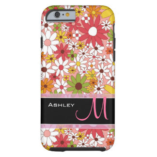 Cute Daisy Flower Stylish Floral Monogrammed Tough iPhone 6 Case