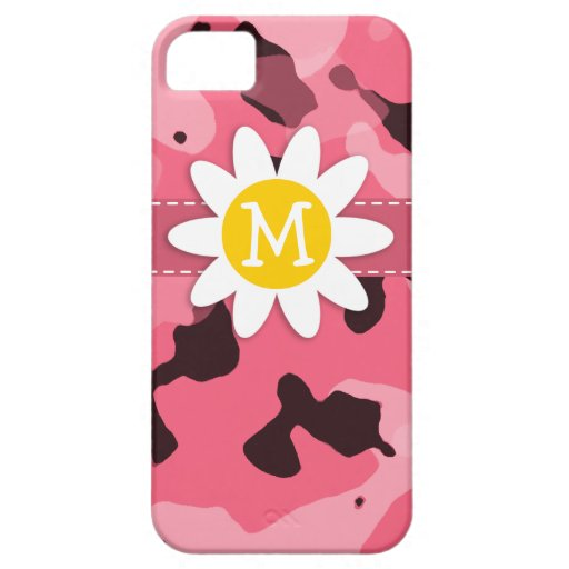 Cute Daisy on Brink Pink Camo; Camouflage iPhone 5 Covers