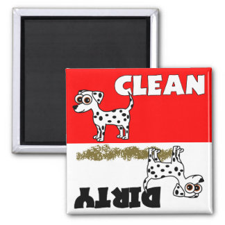 Cute Dalmatian Clean / Dirty Dishwasher Magnet