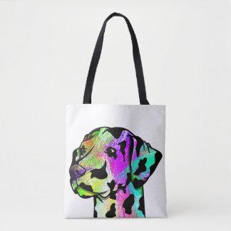 Cute Dalmatian Dog Head Tote Bag