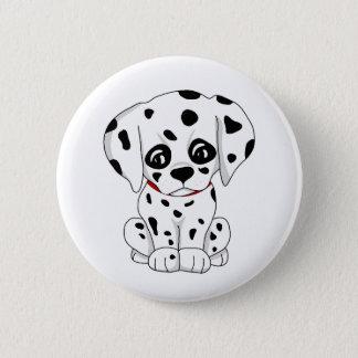 Cute Dalmatian puppy 6 Cm Round Badge