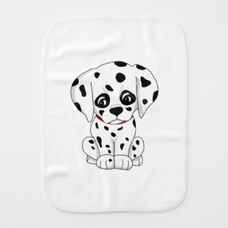 Cute Dalmatian puppy Burp Cloth