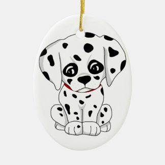 Cute Dalmatian puppy Ceramic Ornament