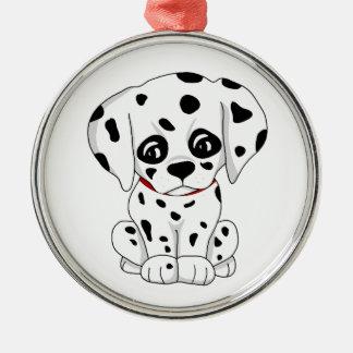 Cute Dalmatian puppy Metal Ornament