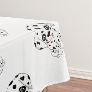 Cute Dalmatian puppy Tablecloth