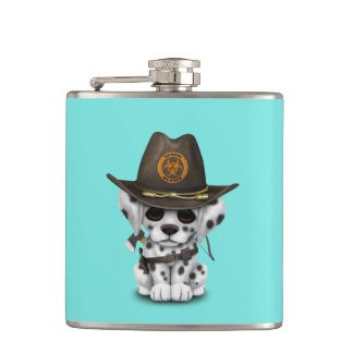 Cute Dalmatian Puppy Zombie Hunter Hip Flask