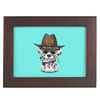 Cute Dalmatian Puppy Zombie Hunter Keepsake Box