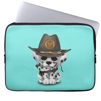 Cute Dalmatian Puppy Zombie Hunter Laptop Sleeve