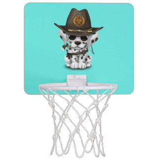 Cute Dalmatian Puppy Zombie Hunter Mini Basketball Hoop