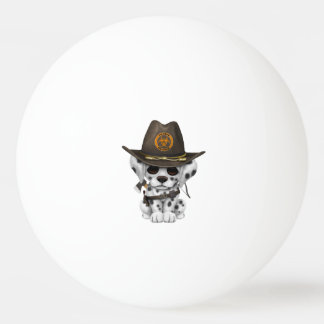 Cute Dalmatian Puppy Zombie Hunter Ping Pong Ball