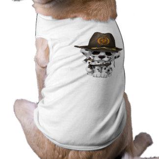 Cute Dalmatian Puppy Zombie Hunter Shirt