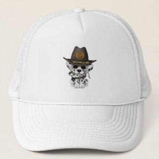Cute Dalmatian Puppy Zombie Hunter Trucker Hat