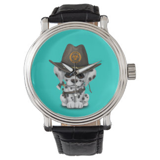 Cute Dalmatian Puppy Zombie Hunter Watch
