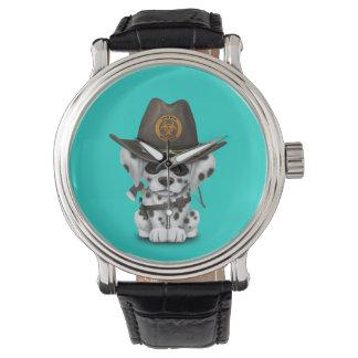 Cute Dalmatian Puppy Zombie Hunter Wrist Watch