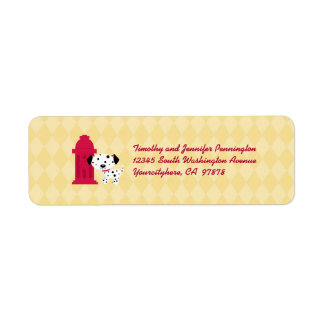 Cute dalmation dog and hydrant address labels