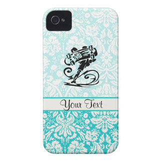 Cute Damask Skateboard Case-Mate iPhone 4 Cases