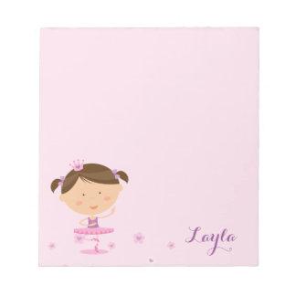 Cute Dancer Ballerina Girl Notepad