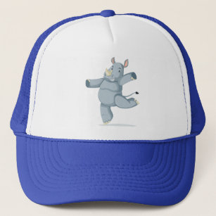Cartoon Rhino Gifts Baseball & Trucker Hats | Zazzle com au