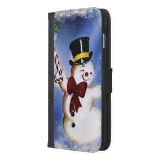 Cute dancing Snowman iPhone 6/6s Plus Wallet Case