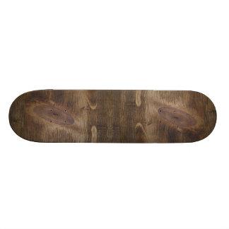 Cute Dark Brown Rustic Knotty Wood Look Background Skate Board Decks
