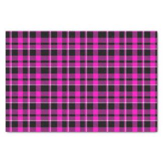 Cute Dark Pink & Black Plaid/Tartan Tissue Paper