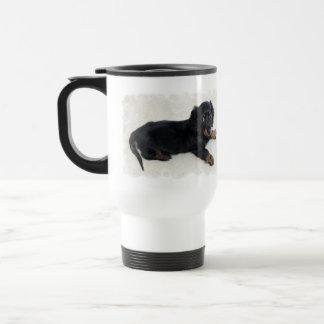 Cute Daschund  Plastic Travel Mug