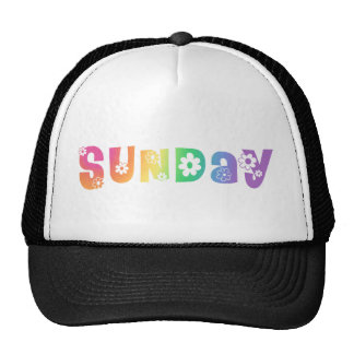 Cute Day Of The Week Sunday Mesh Hats