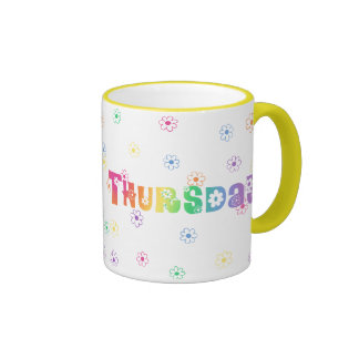 Cute Day Of The Week Thursday Coffee Mugs