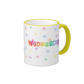 Cute Day Of The Week Wednesday Coffee Mugs