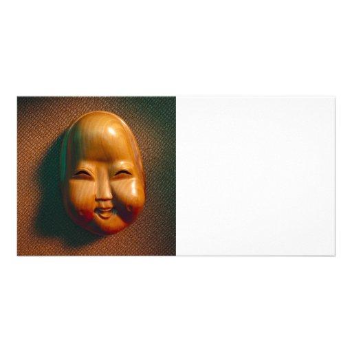 Cute Decorative Mask Personalized Photo Card