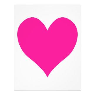 Cute Deep Pink Heart 21.5 Cm X 28 Cm Flyer