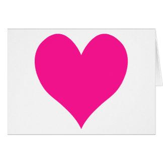 Cute Deep Pink Heart Card