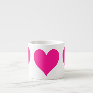 Cute Deep Pink Heart Espresso Mug