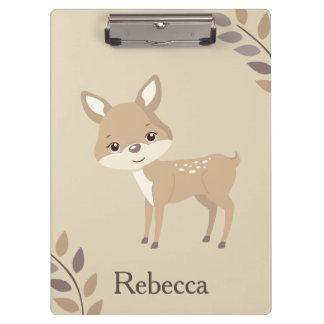 Cute Deer Fall Inspiration Clipboard