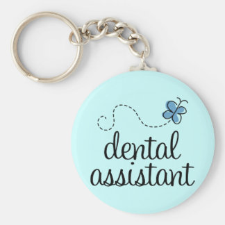 Cute Dental Assistant Basic Round Button Key Ring
