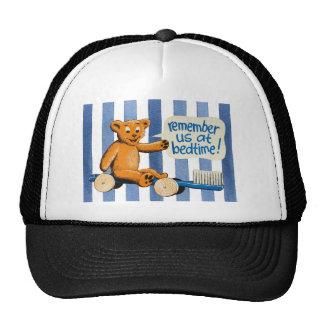 Cute Dental Bear - Blue Stripes Cap