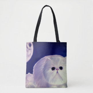 Cute design fatty kitten tote bags