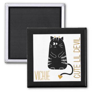 Cute Devil Cat Magnet